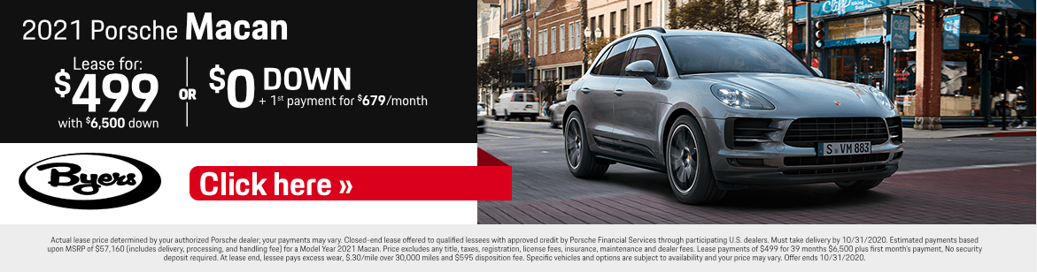 2021 Porsche Macan Lease or Financing Special in Columbus, OH