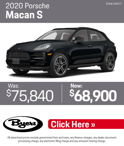 2020 Macan S Used Offer