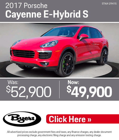 2017 Porsche Cayenne E-Hybrid S Pre-Owned Special in Columbus, OH