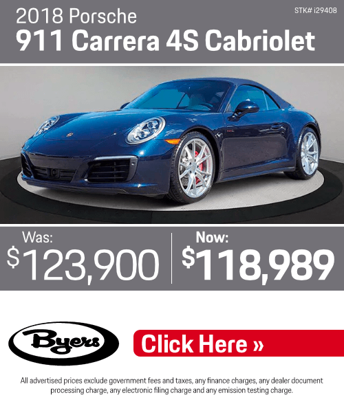 2018 Porsche 911 Carrera 4S Cabriolet Pre-Owned Special in Columbus, OH