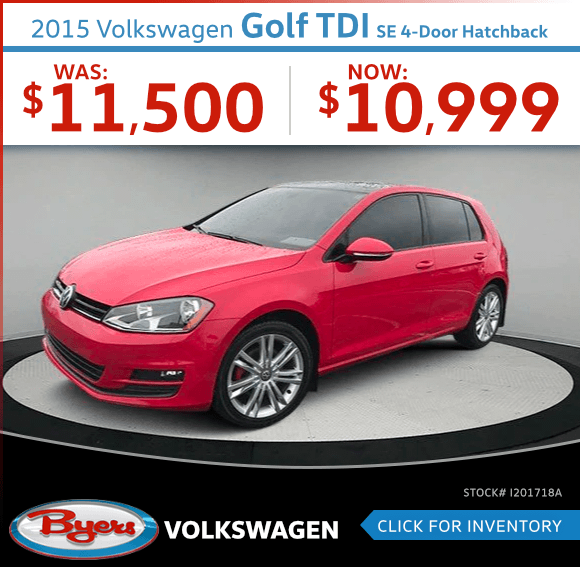 2015 Golf TDI SE 4-Door Hatchback Pre-Owned Special in Columbus, OH