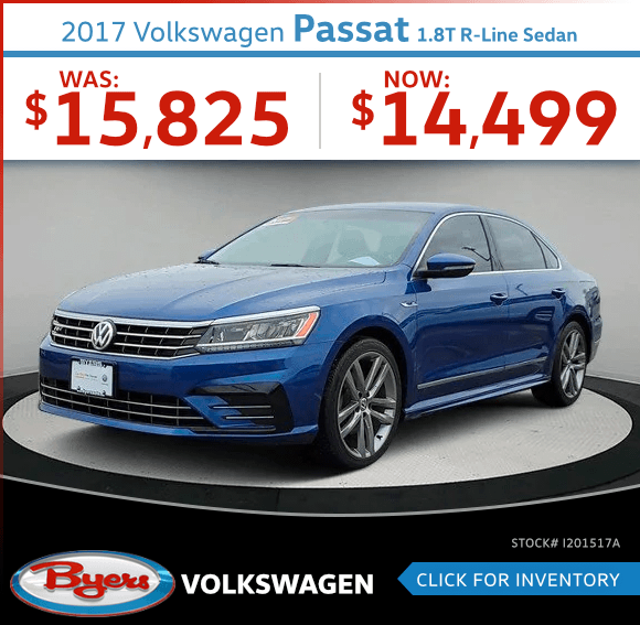 2017 Passat 1.8T R-Line Sedan Pre-Owned Special in Columbus, OH