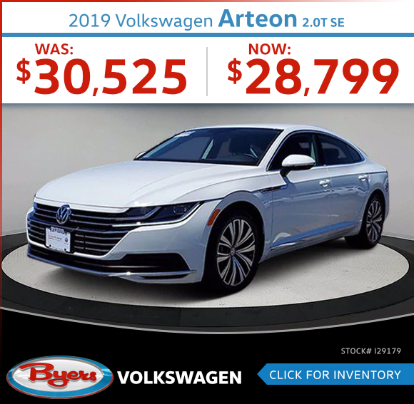 2019 Volkswagen Arteon 2.0T SE Pre-Owned Special in Columbus, OH