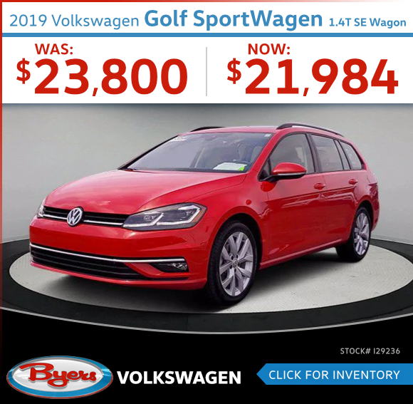 2019 Volkswagen Golf SportWagen 1.4T SE Wagon Pre-Owned Special in Columbus, OH