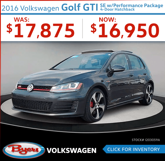 2016 Volkswagen Golf GTI SE w/Performance Package 4-Door Hatchback Pre-Owned Special in Columbus, OH