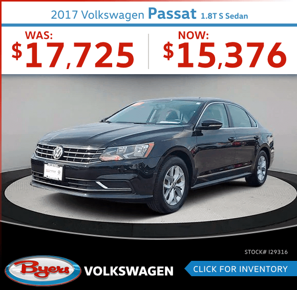 2017 Volkswagen Passat 1.8T S Sedan Pre-Owned Special in Columbus, OH
