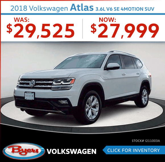 2018 Volkswagen Atlas 3.6L V6 SE 4Motion SUV Pre-Owned Special in Columbus, OH