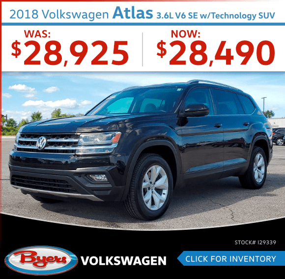 2018 Volkswagen Atlas 3.6L V6 SE w/Technology SUV Pre-Owned Special in Columbus, OH