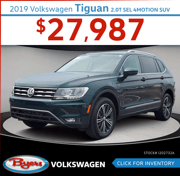 2019 Volkswagen Tiguan 2.0T SEL 4Motion SUV Pre-Owned Special in Columbus, OH