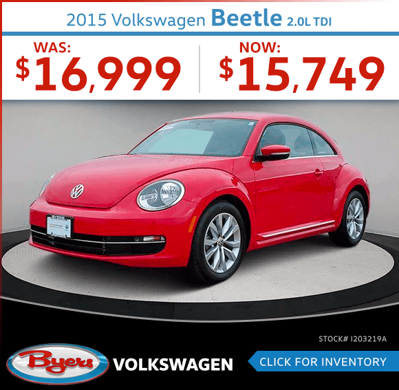 2015 Volkswagen Beetle 2.0L TDI Pre-Owned Special in Columbus, OH