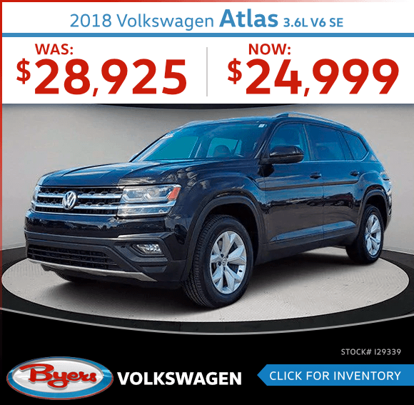 2018 Volkswagen Atlas 3.6L V6 SE Pre-Owned Special in Columbus, OH