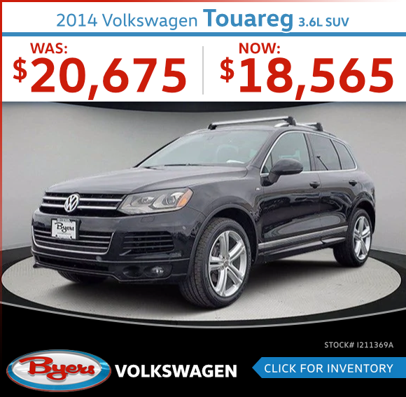 2014 Volkswagen Touareg 3.6L SUV Used Car Special in Columbus, OH