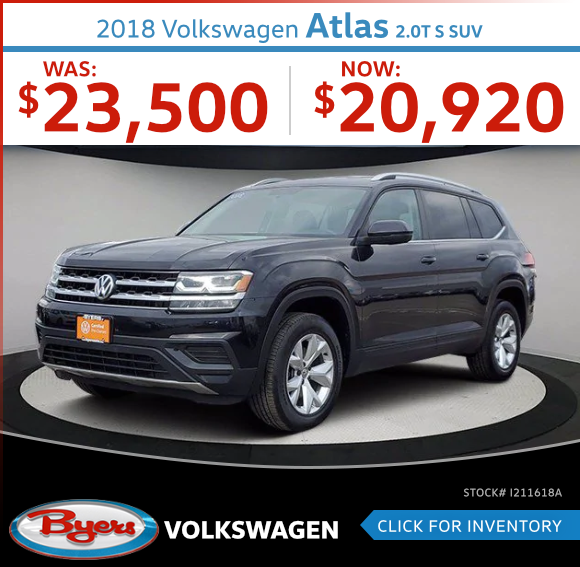 2018 Volkswagen Atlas 2.0T S SUV Used Car Special in Columbus, OH