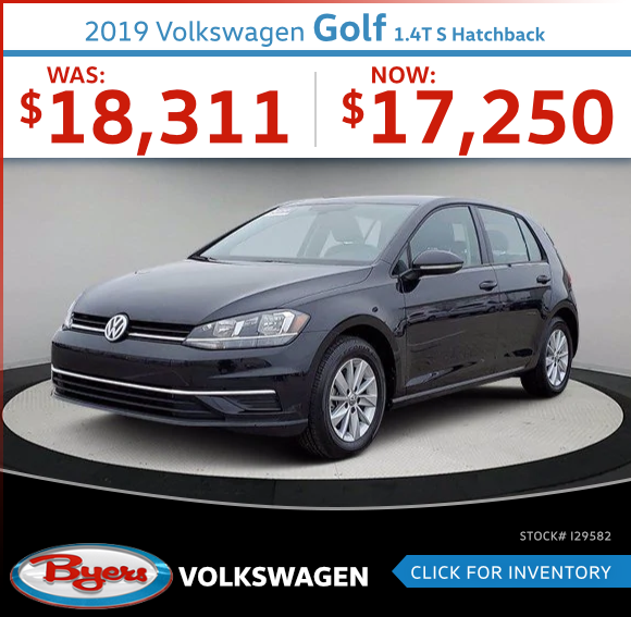 2019 Volkswagen Golf 1.4T S Hatchback Used Car Special in Columbus, OH