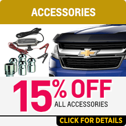 Click for 15% Off All Accessories Special at Capitol Chevy in Salem Near Keizer, OR