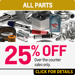 25% off all parts Over the counter sales only. at Capitol Chevy in Salem Near Keizer, OR