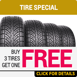 Buy 3 get one free tire special at Capitol Chevy in Salem Near Keizer, OR