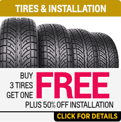 Click to View Our Buy 3 Tires Get 1 FREE , Plus 50% OFF installation at Capitol Chevrolet in Salem Near Keizer, OR