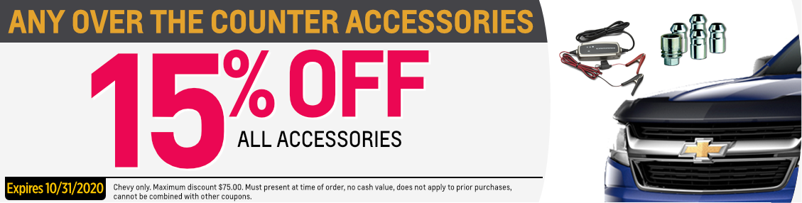 15% off accessories parts special