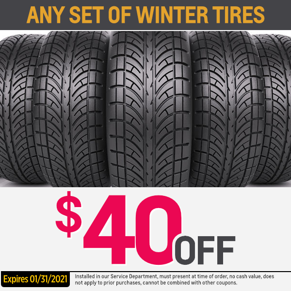Save With This Winter Tire Parts Special