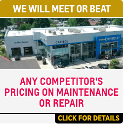 Click to View Our Meet or Beat The Competition Service Special at Capitol Chevrolet in Salem, OR