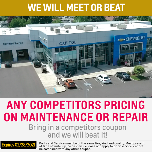 Get More For Your Money At The Capitol Chevrolet Service Center Capitol Chevrolet Of Salem