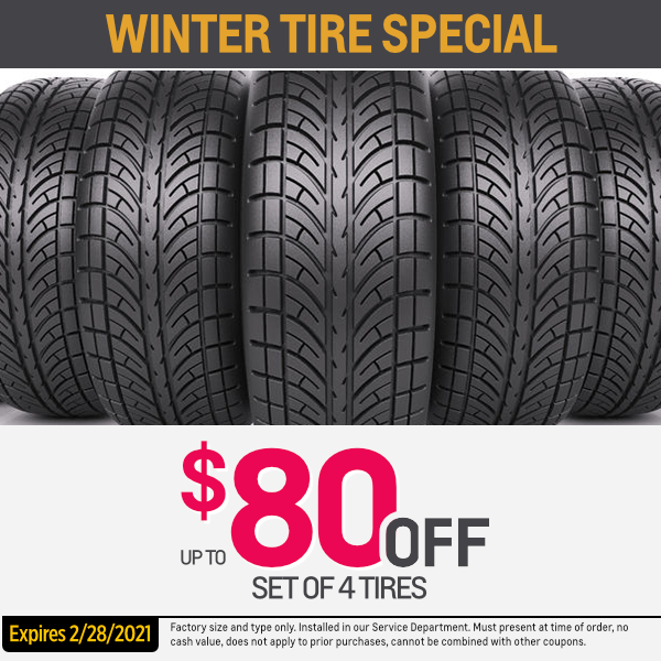 Winter tire special up to $80.00 off set of 4 tires Parts Special