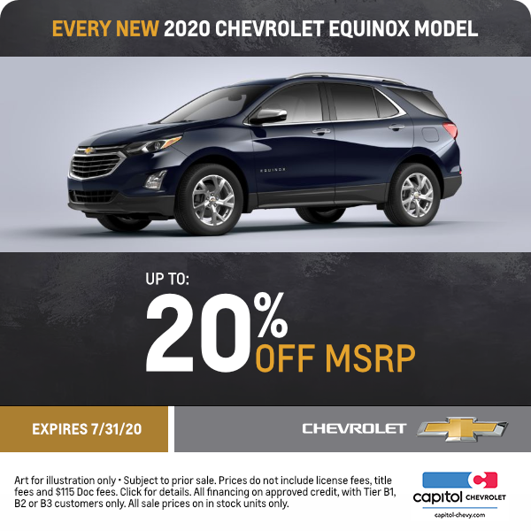 2020 Chevy Equinox Special Offers Great Deals In Salem Oregon