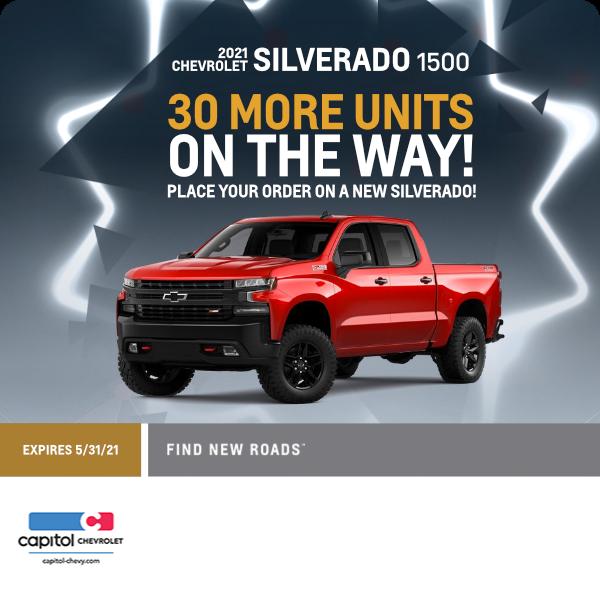 More 2021 Chevrolet Silverado 1500 models in Salem, OR