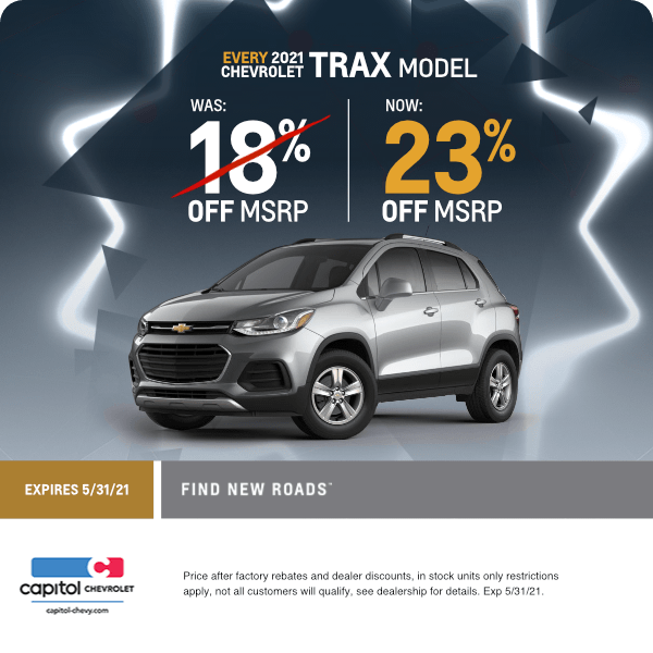 2021 Chevrolet Trax Discount Special in Salem, OR