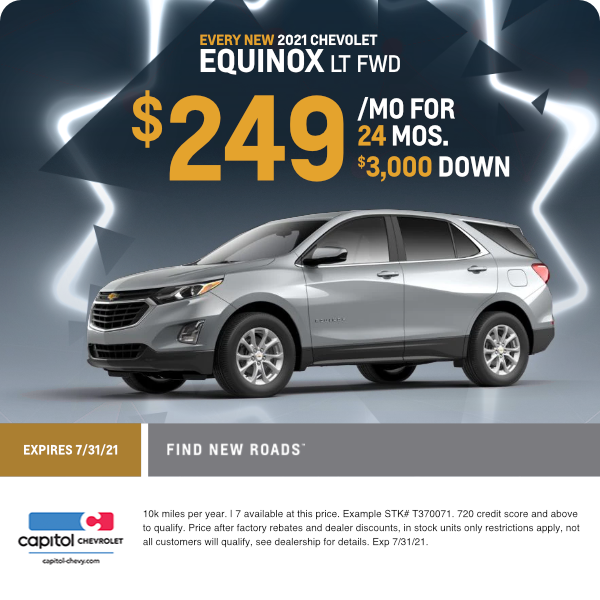 2021 Equinox LT FWD Lease Special in Salem, OR