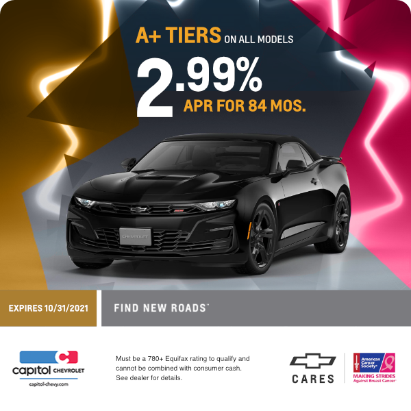 2.99% APR for 84 months for A+ Tiers on all models