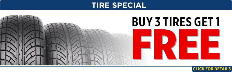 Buy 3 get one free tire special Parts Special at Capitol Subaru of Salem
