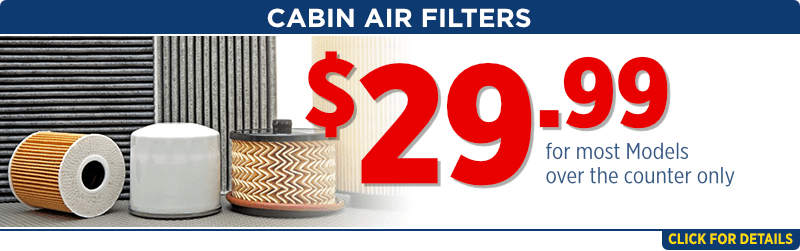 Cabin Air Filter Service Special at Capitol Subaru of Salem