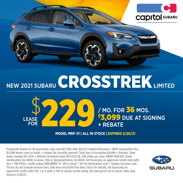 2021 Subaru Crosstrek Limited Lease Special in Salem, OR