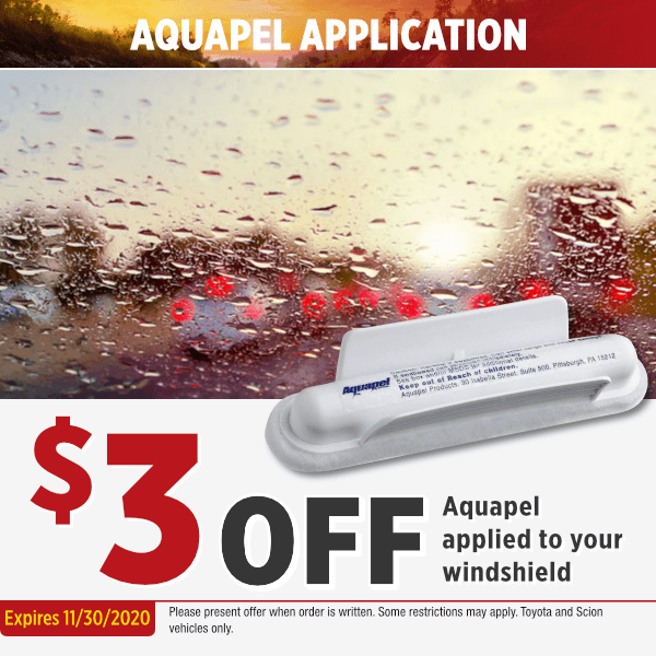 Aquapel applied to Your WindshieldSpecial in Salem, OR
