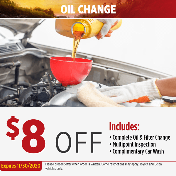 Toyota Oil Change Service Special in Salem, OR