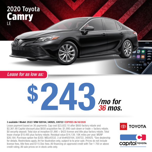 2020 Toyota Camry LE Lease Special in Salem, OR