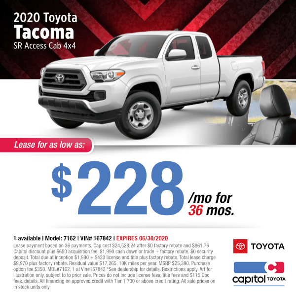 2020 Toyota Tacoma SR Access Cab Lease Special in Salem, OR
