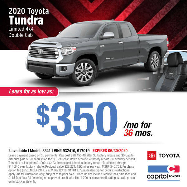 2020 Toyota Tundra 4x4 Double Cab Limited Lease Special in Salem, OR