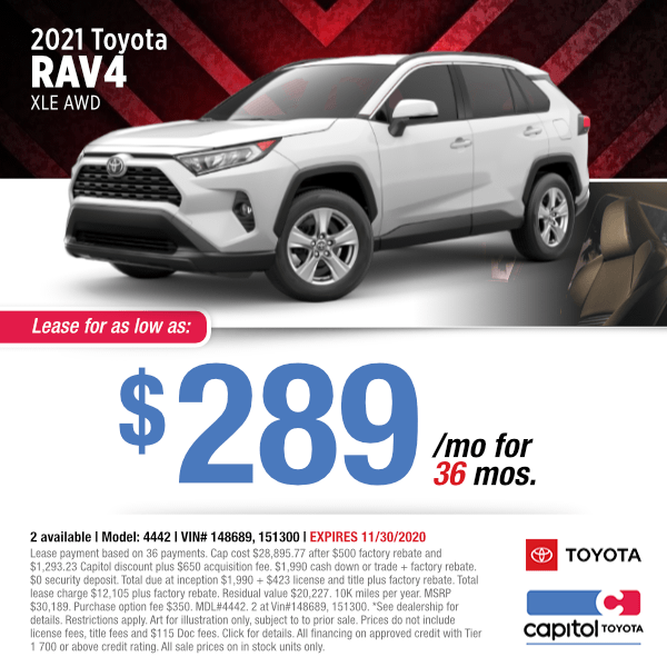 2021 Toyota RAV4 XLE AWD Lease Special in Salem, OR