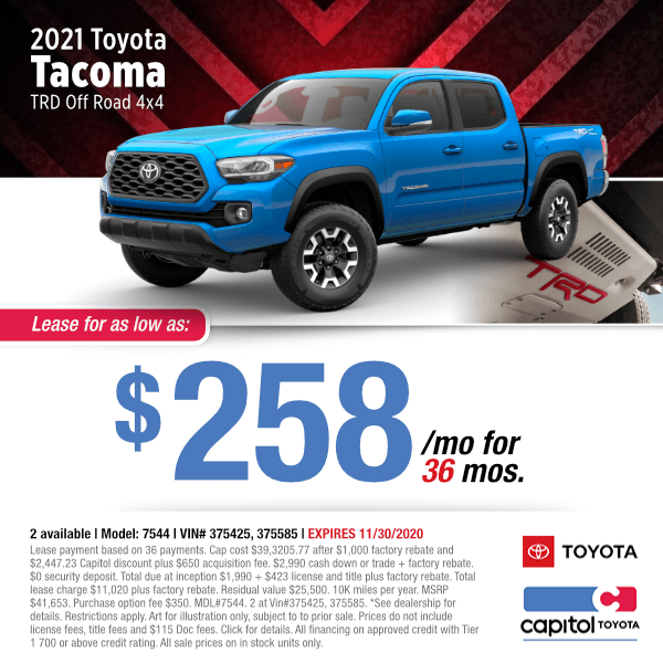 2021 Toyota Tacoma TRD Off Road 4x4 Lease Special in Salem, OR