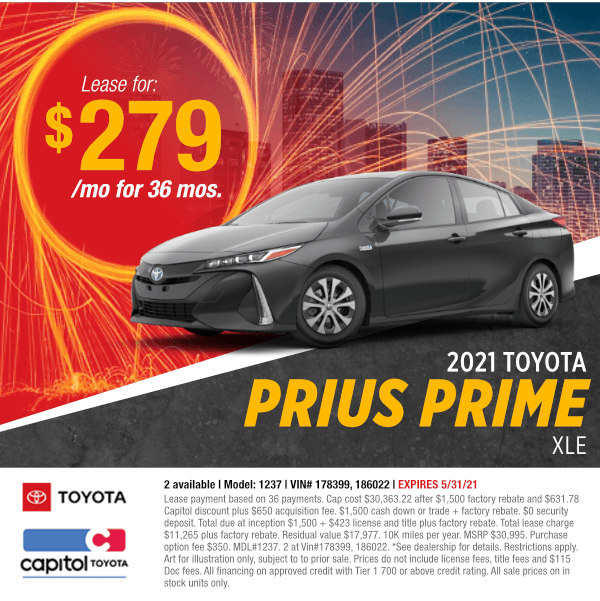 2021 Toyota Prius Prime XLESales Special at Capitol Toyota in Salem, OR