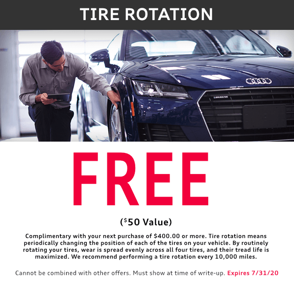 McKenna tire rotation service special