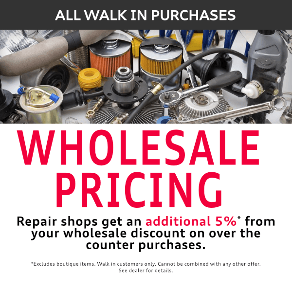Wholesale pricing on all walk in purchases at Mckeena Audi in Norwalk, CA