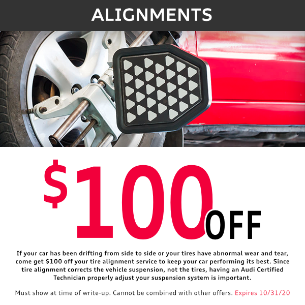 $100 off Alignments