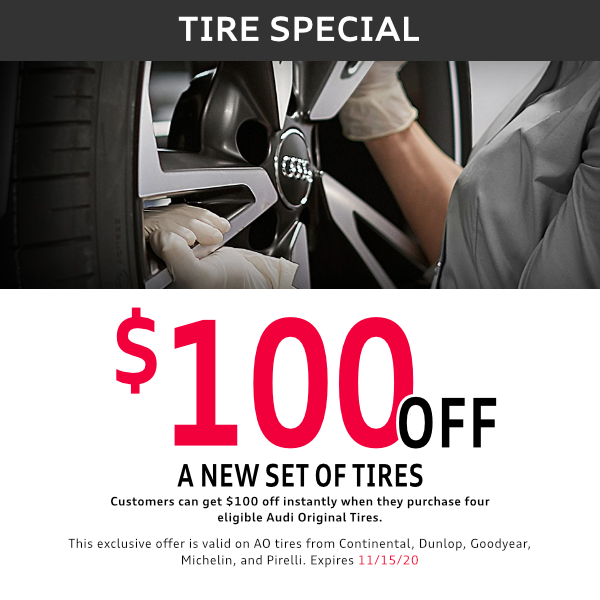 $100 off a new set of tires