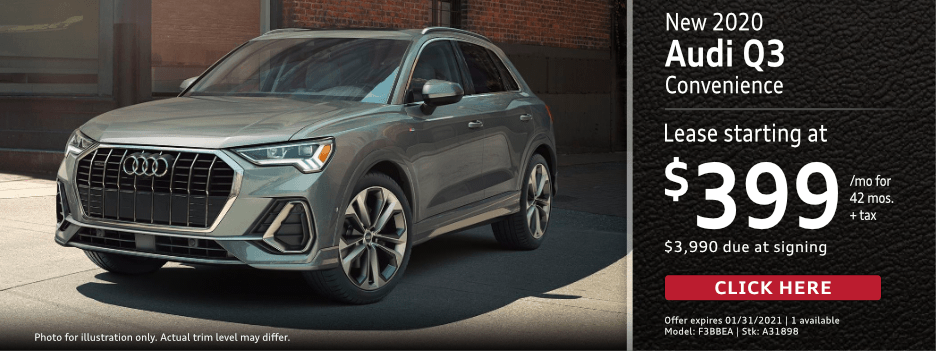 New 2021 Audi Q3 Convenience Lease Special in Norwalk, CA