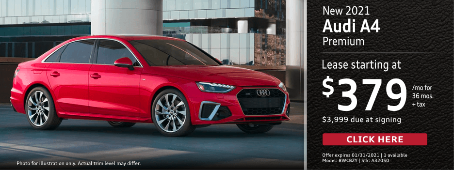 New 2021 Audi A4 Premium Lease Special in Norwalk, CA