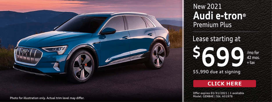 New 2021 Audi e-tron Premium Lease Special in Norwalk, CA